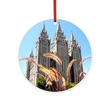 Mormon Salt Lake Temple Ornament (Round)