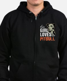 This Girl Loves Her Pitbull Zip Hoodie