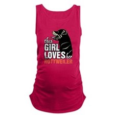 This Girl Loves Her Rottweiler Maternity Tank Top