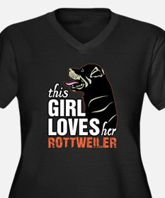This Girl Loves Her Rottweiler Plus Size T-Shirt