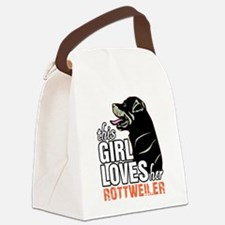 This Girl Loves Her Rottweiler Canvas Lunch Bag