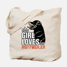 This Girl Loves Her Rottweiler Tote Bag
