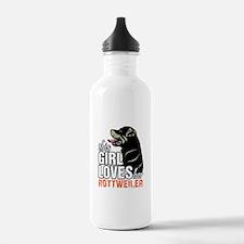 This Girl Loves Her Rottweiler Water Bottle