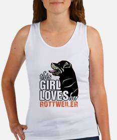 This Girl Loves Her Rottweiler Tank Top