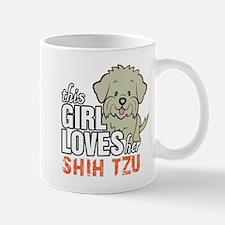 This Girl Loves Her Shih Tzu Mugs