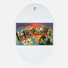 Greetings from Florida Oval Ornament