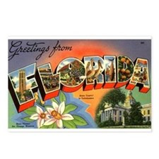 Greetings from Florida Postcards (Package of 8)