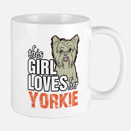 This Girl Loves Her Yorkie Mugs