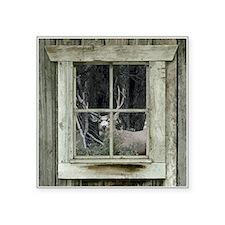 Old Cabin Window Buck 1 Sticker