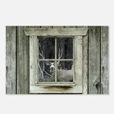 Old Cabin Window Buck 1 Postcards (Package of 8)