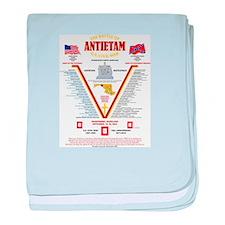 U.S. CIVIL WAR BATTLE OF ANTIETAM baby blanket