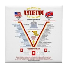 U.S. CIVIL WAR BATTLE OF ANTIETAM Tile Coaster