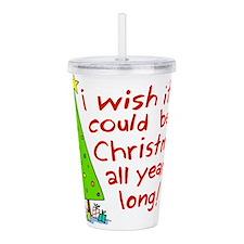 Christmas wish Acrylic Double-wall Tumbler