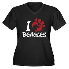 I Love Beagles Plus Size T-Shirt