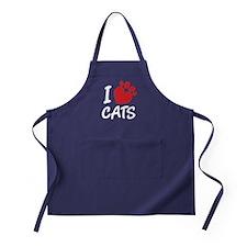 I Love Cats Apron (dark)