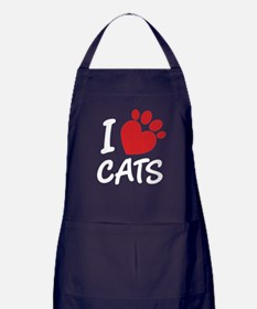 I Love Cats Apron (dark)