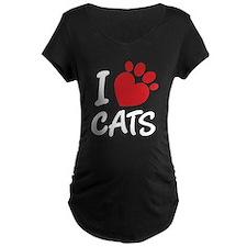I Love Cats Maternity T-Shirt