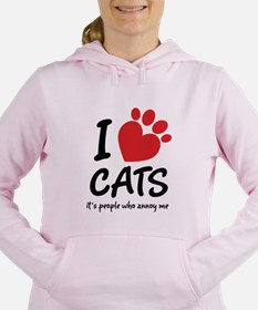 I Love Cats It's People Who Annoy Me Women's Hoode