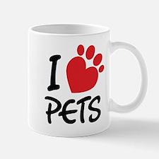 I Love Pets Mugs