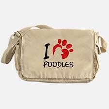 I Love Poodles Messenger Bag