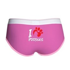 I Love Poodles Women's Boy Brief