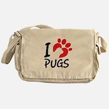 I Love Pugs Messenger Bag