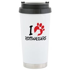 I Love Rottweilers Travel Mug