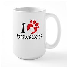 I Love Rottweilers Mugs