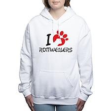 I Love Rottweilers Women's Hooded Sweatshirt