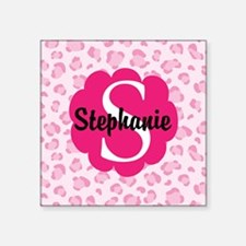 Personalized Pink Name Monogram Gift Sticker