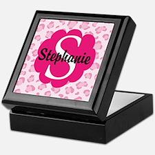 Personalized Pink Name Monogram Gift Keepsake Box