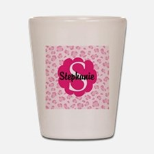 Personalized Pink Name Monogram Gift Shot Glass