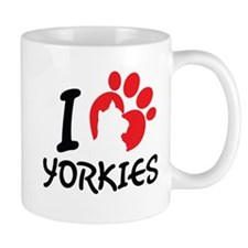 I Love Yorkies Mugs