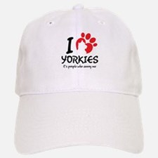 I Love Yorkies It's People Who Annoy Me Baseball C