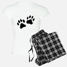 Pair Of Black Paw Pajamas