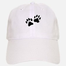 Pair Of Black Paw Baseball Baseball Baseball Cap
