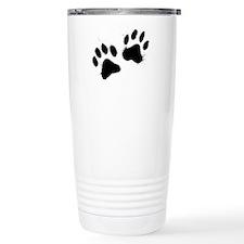 Pair Of Black Paw Travel Mug