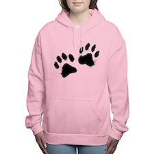 Pair Of Black Paw Women's Hooded Sweatshirt