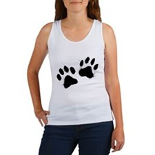 Pair Of Black Paw Tank Top
