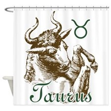 Zodiac Sign Taurus Symbol Shower Curtain