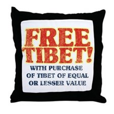 Free Tibet With Purchase Throw Pillow