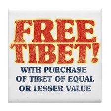 Free Tibet With Purchase Tile Coaster