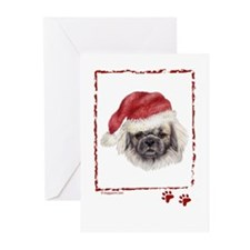 Cute Tibetan spaniel art Greeting Cards (Pk of 20)