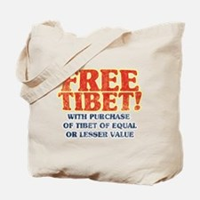 Free Tibet With Purchase Tote Bag