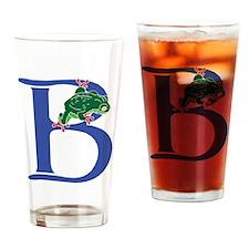 Blue Frog B Drinking Glass