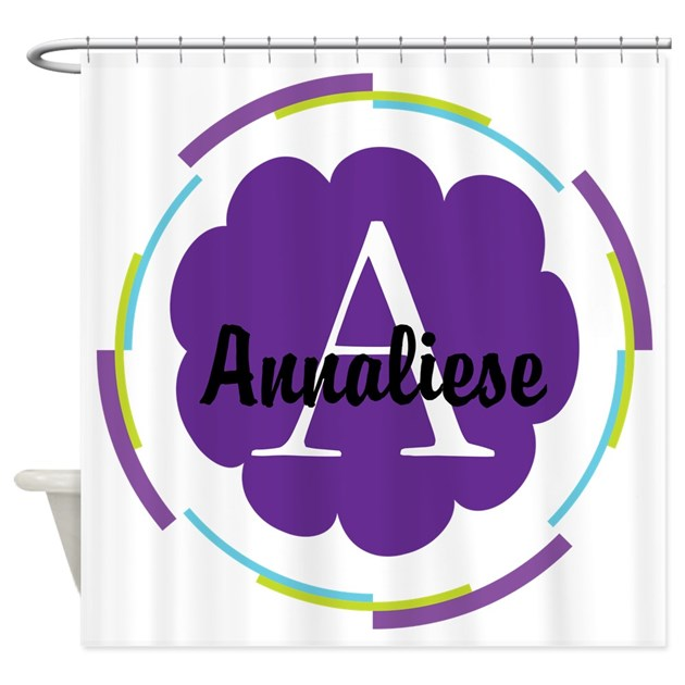 Personalized name monogram gift shower curtain by for Kitchen colors with white cabinets with monogram stickers for cups