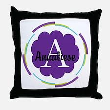 Personalized Name Monogram Gift Throw Pillow