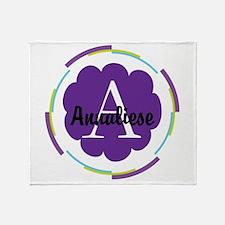 Personalized Name Monogram Gift Throw Blanket