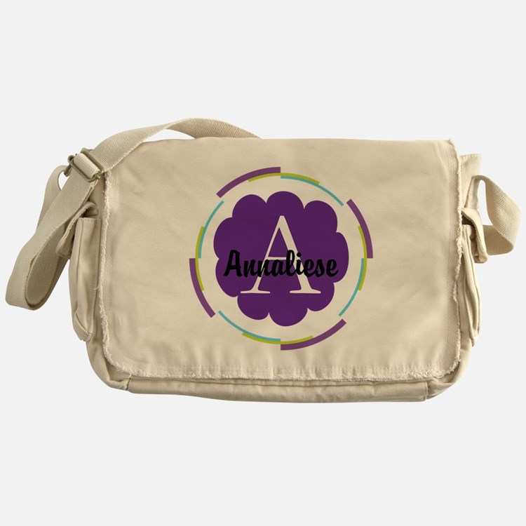 Personalized Name Monogram Gift Messenger Bag