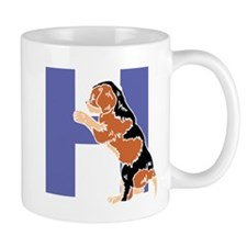 Puppy Letter H Mugs